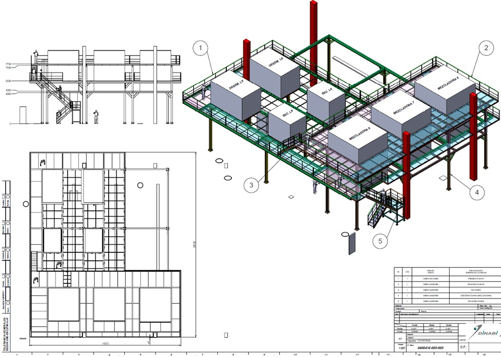2-STORY PLATFORM TO HOLD 7 MACHINES